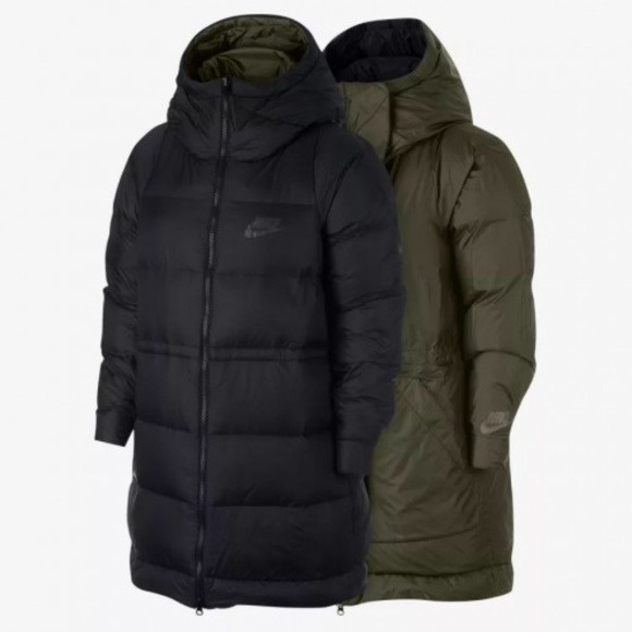 Small BNWT Nike NSW Down Filled Parka Jacket Size